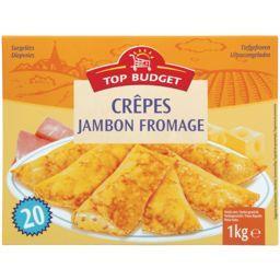 Crêpes fourrées au jambon et au fromage fondu