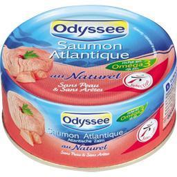 Saumon atlantique au naturel sans peau & sans arête