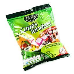 Carrés tendres - bonbons aux jus de fruits