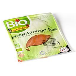 Saumon atlantique bio - salé au sel sec et fumé au b...