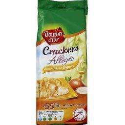 Crackers allégés saveur crème oignon