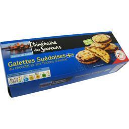 Galettes suédoises au chocolat et aux flocons d'avoi...