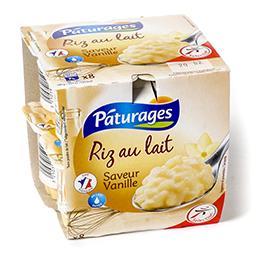 Riz au lait entier - saveur vanille