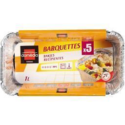 Barquettes aluminium 1 l
