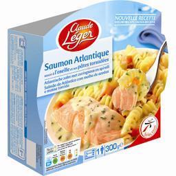 Saumon atlantique sauce à l'oseille et pâtes torsadé...