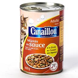 Mijotés en sauce à la dinde et canard aux légumes po...