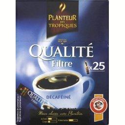 Qualité filtre décaféiné, café décaféiné soluble lyo...