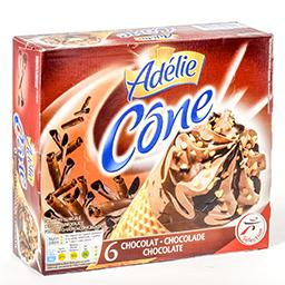 Cônes de glace - chocolat