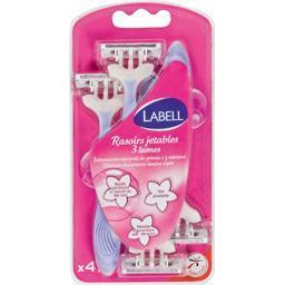 For lady rasoirs jetables 3 lames avec plaquette lub...