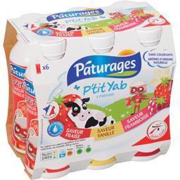 P'tit Yab saveurs fraise, framboise, vanille