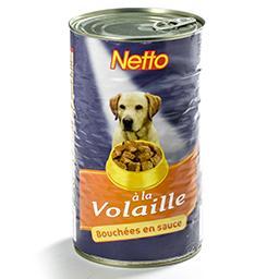 Aliment pour chien - bouchées en sauce - à la volail...