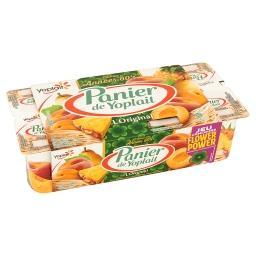 Panier de yoplait - yaourts sucrés aux fruits jaunes