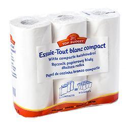 Essuie-tout blanc - compact - double épaisseur