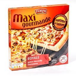 Maxi gourmande - pizza royale jambon / mozzarella / ...