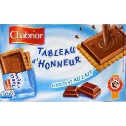 Biscuits pocket tableau d'honneur chocolat au lait