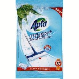 Hygien+ - lingettes serpillières menthe eucalyptus, ...