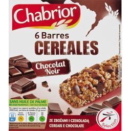 Barres de céréales chocolat noir
