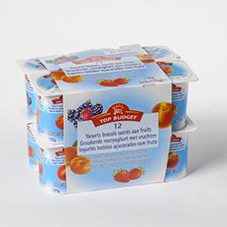 Yaourts brassés sucrés aux fruits