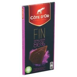 Tablette de chocolat 86% noir brut