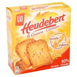 Heudebert - biscottes aux 6 céréales