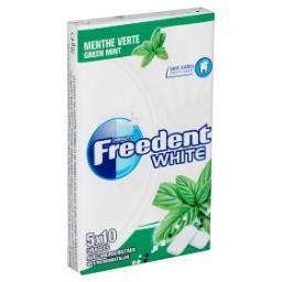 White - menthe verte - chewing-gum sans sucres avec ...