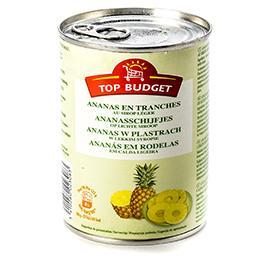 Ananas en tranches au sirop léger