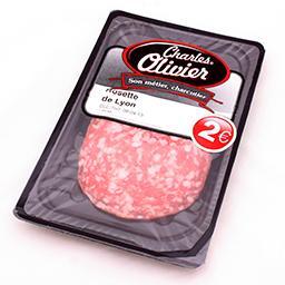 Rosette de lyon - salami en tranches