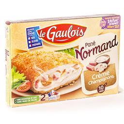 Pané Normand - crème champignon - volaille 100% fran...