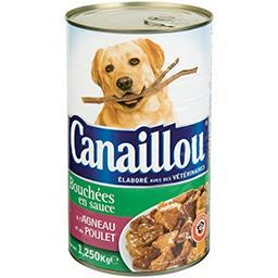 Bouchées en sauce agneau poulet pour chien adulte