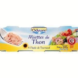 Miettes de thon à l'huile de tournesol