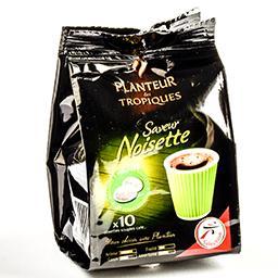Café saveur noisette en dosettes souples