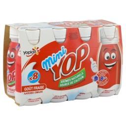 Mini yop aromatisé à la fraise - yaourt à boire