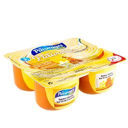 Crème dessert saveur vanille sur lit au caramel