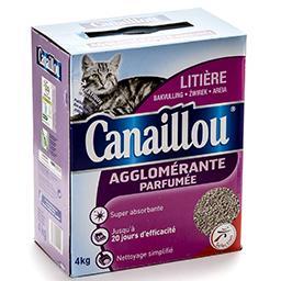 Litière agglomérante parfumée pour chats