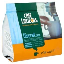 Dosettes de café - discret deca - fruité - café pads