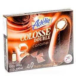 Colosse - glace sur bâtonnet double caramel