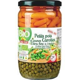 Petits pois et jeunes carottes extra fins à l'étuvée...