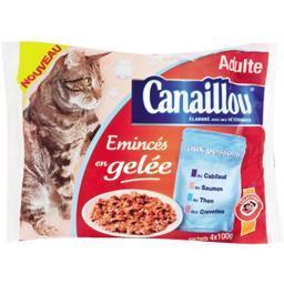 Emincés en gelée aux poissons pour chats adultes