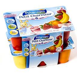 Petit charmeur - fraise abricot framboise banane - 6...