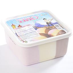 Trio gelato - vanille - chocolat - fraise