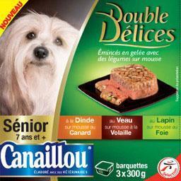 Doubles Délices, émincés en gelée avec légumes, pour...
