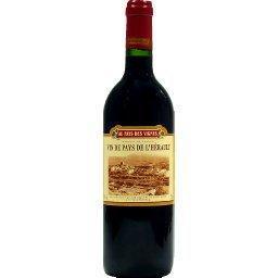 Vin rouge de pays de l'hérault - au pays des vignes
