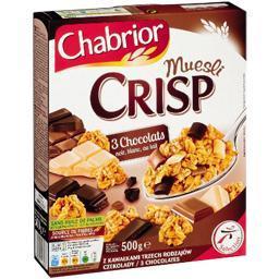 Céréales muesli crisp 3 chocolats