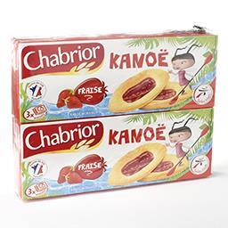 Kanoë - biscuits aux œufs - nappage à la purée et au...
