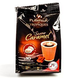 Café saveur caramel en dosettes souples