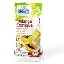 Mélange exotique banane, papaye, ananas, raisins, no...
