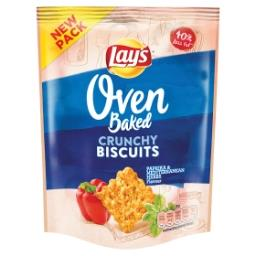 Oven crunchy biscuits - paprika and mediterranean