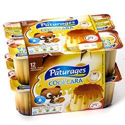Cool'cara - dessert lacté saveur vanille nappé de ca...