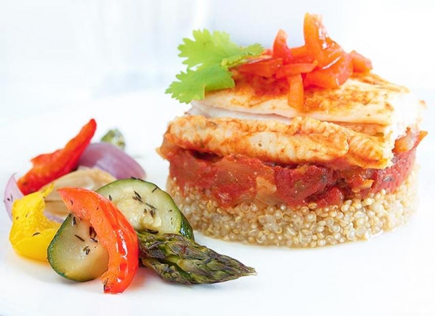 Curry de filet de poisson aux tomates, coriandre et citron vert