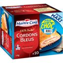 Maître Coq Cordons bleus 100% poulet la boite de 10 - 1 kg - Maxi Format